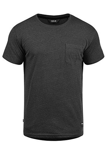 !Solid Bob Herren T-Shirt Kurzarm Shirt Mit Rundhalsausschnitt, Größe:XL, Farbe:Dark Grey Melange (8288)