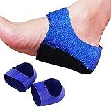 Footsihome - Protezioni per tallone, traspiranti, elastiche, per supporto, ammortizzazione e sollievo dal dolore da fascite plantare, sperone calcaneare, pelle screpolata