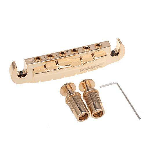 Wilkinson 52 mmEspaciado Entre Cuerdas Pre-set Puente Wraparound para Guitarra Gibson/Epiphone Les Paul Style, Dorado