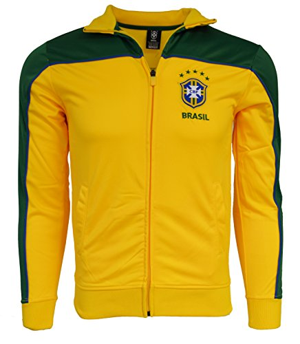 Brasil Jacket Youth Boys Soccer Track Brazil Zip up (YS)