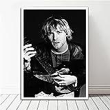 RCANLGZ Promi Poster Und Drucke Kurt Cobain Pop Rock Singer