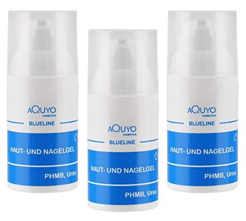 Blueline Nagelgel gegen Nagelpilz & Fußpilz, Gel für entzündete Haut oder Nägel, Hautgel zur Behandlung von Hautausschlag & Hautunreinheiten, Nagelpflege für Fingernagel und Fußnagel (3x 30ml)