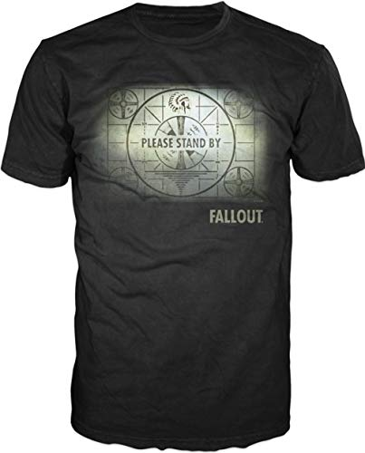 Fallout Map Mens Black T-shirt Licensed (Large)