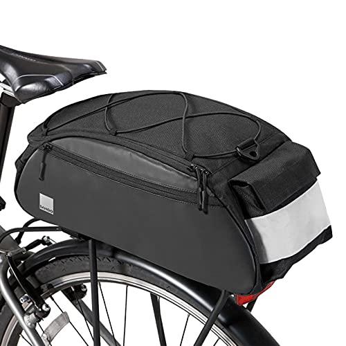 UBORSE Bolsa para Alforjas para Bicicleta Impermeable Bolso para Asiento Trasero de la Bicicleta Multifuncional Bolsa de Asiento Trasero con Funda para la Lluvia