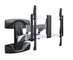 Premium Wandhalterung Superflach Neigbar Schwenkbar für 40 42 46 47 50 55 60 63 65 70 Zoll optimal für LCD und LED , Fernseher neigbar, schwenkbar, flach, ausziehbar, ultraslim VESA 600 Modell HALTERUNGSPROFI SXL