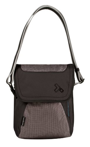 travelon leather messenger bags Travelon Luggage Anti-Theft React Messenger Bag, Black, One Size