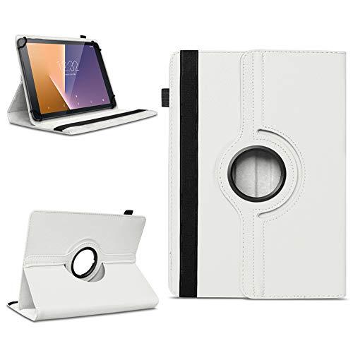 na-commerce Tablet Schutzhülle Vodafone Tab Prime 6/7 360° drehbar Tasche Cover Hülle Etui, Farben:Weiss