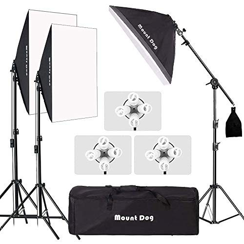 MOUNTDOG Softbox Lighting Kit 540W 20'x 28' 3 pcs Softbox Professional Studio Photography for Portrait Photo Video Shooting