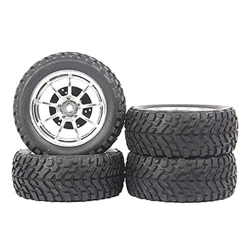 LIZONGFQ Paquete de 4 neumáticos de Goma con Llantas para WPL B14 B24 C14 C44 1/16 Scale RC Crawlers