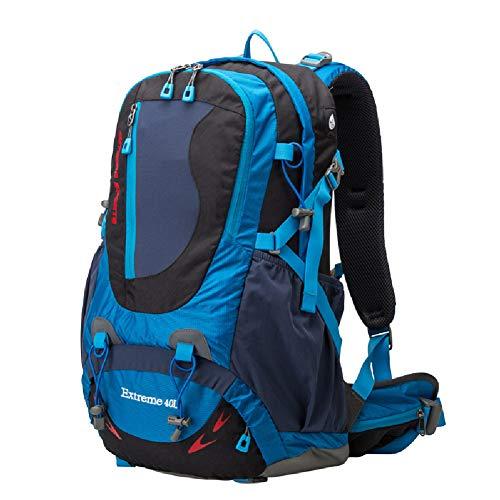 Mochila para montañismo de mochila de 40L al aire libre, Bolsa de viaje impermeable, Mochila portátil de gran capacidad y peso ligero