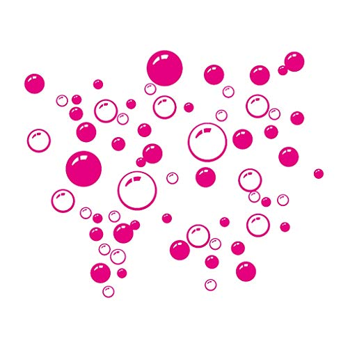 Protección del Medio Ambiente Burbujas Círculo extraíble Papel del baño Pared Etiqueta de la Ventana Principal de Bricolaje PVC Etiquetas de la Pared Pegatinas Conveniente (Color : 8)