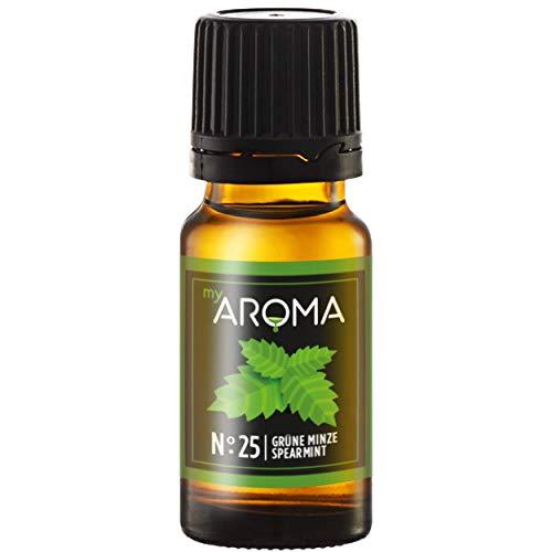 myAROMA | No. 25 (Grüne Minze, 10 ml) | Rein natürliches Aroma | Geschmackstropfen zum Kochen, Backen & Mixen | Zuckerfrei & ohne Süßung