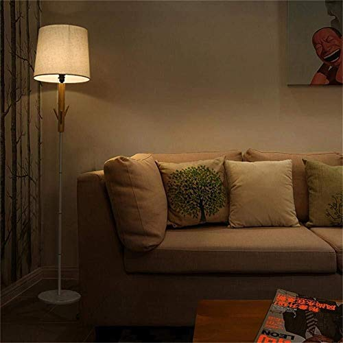 OGUAN De pie luminarias creativas de madera escandinavos modernos de pie luminarias for estar Sala de Estudio Dormitorio Lámparas de piso, Incluye bombilla