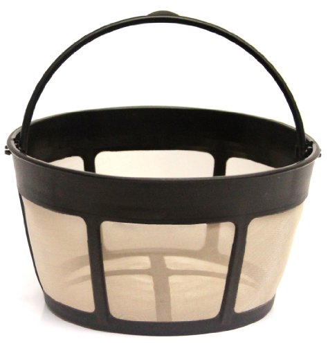 THE ORIGINAL GOLDTONE BRAND Reusable Basket-style 10-12 Cup Coffee Filter with Screen Bottom