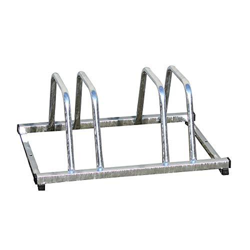 Certeo Fahrradständer für doppelseitige Radeinstellung | 2 Stellplätze | Bodenparker Mehrfachständer Bügelparker Stellplatz