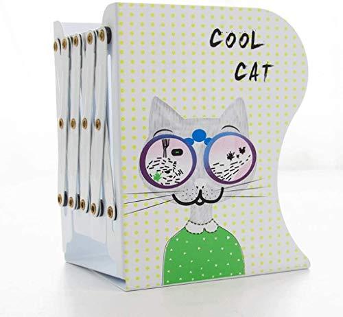 Bookends, Decorative Metal Book Termina Soportes para estantes, Diseño único Diseño Librería de Librería Libro de metal (Color : Green)