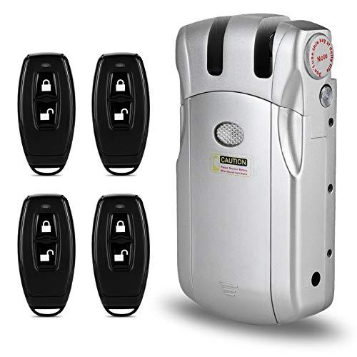 Kit de cerradura de puerta inteligente electrónico, cerradura invisible sistema de cerradura de control de acceso al hogar inalámbrico sin llave kit de cerradura de puerta