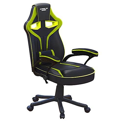 Cadeira Gamer Raptor com Apoio Lombar, Descansa Braços, Ajuste de Altura