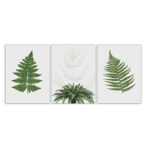 Jin Yi Global Minimalistisch eenvoudig canvas groene planten stijl Nordic Art Poster muur foto kinderen slaapkamer decoratie kunstdruk op canvas 50x70cm(19.7