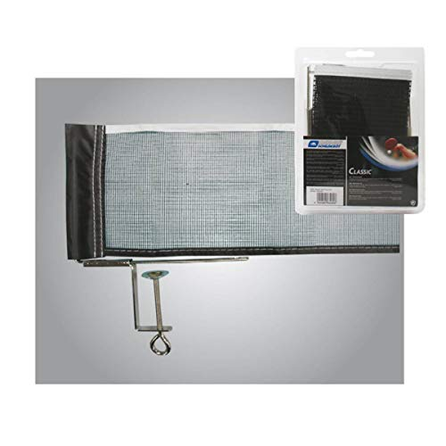 Donic-Schildkröt Red de Tenis de Mesa Classic, Resistente y Práctica, Malla Ajustable, Máximo Espesor de Placa 6,5 cm, 808306