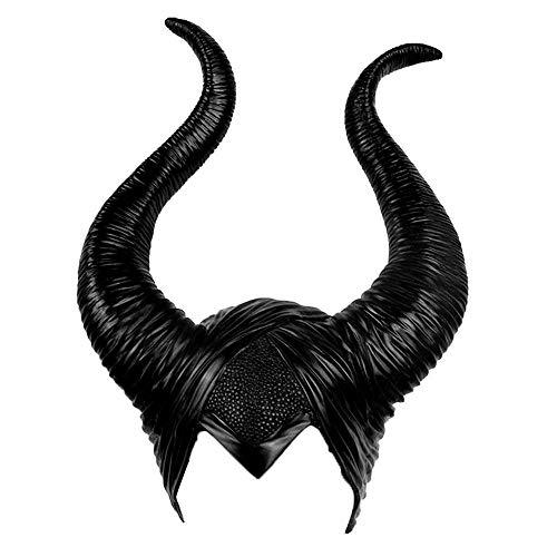 Angel ZYJ Halloween Latex Maleficent Hut Hörner Böse Königin Custume Cosplay Kopfbedeckungen