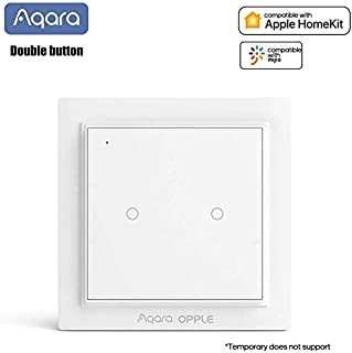 Para Xiaomi Mijia Aqara Opple Wireless Smart Scene Switch,Wi-Fi Interruptor y Mando Inalámbrico ZiGBee Version, Wireless Remote Control Home Kit de para Mi Home Homekit (2 buttons)