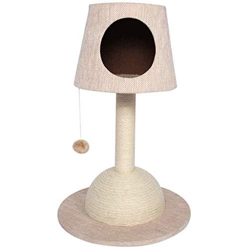 FTFTO Productos para el hogar Árbol para Gatos Marco de Escalada para Gatos Pantalla de lámpara de Mesa Sisal Natural Árbol para Gatos Cama La Mejor Idea para Las Vacaciones Regalo (Color: Azul)