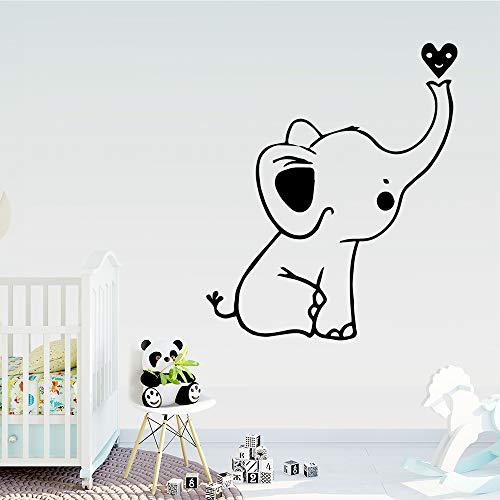 Tianpengyuanshuai Hermoso Elefante Etiqueta Pared Arte Pegatina 42x49cm