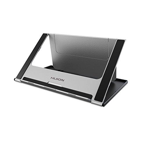 HUION Soporte de escritorio portátil Soporte plegable Soporte de escritorio ajustable de múltiples ángulos Tableta gráfica universal de hasta 18 'de longitud, perfecta para Kamvas 16, Kamvas Pro 16