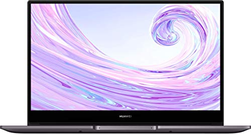 HUAWEI MateBook D 14 Zoll Laptop FullView 1080p Full HD Ultrabook 512GB PCIe SSD8GB RAM AMD Ryzen 5 3500U Fingerabdrucksensor versteckbare Kamera Windows 10 Home Grau