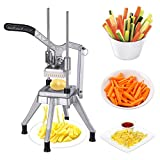 French Fry Cutter,Commercial Restaurant French Fry Cutter Stainless Steel Food Grade Upright French Fries Cutter For Potato,Radish,Cucumber ,Carrots (3/8IN Blades, Sliver)