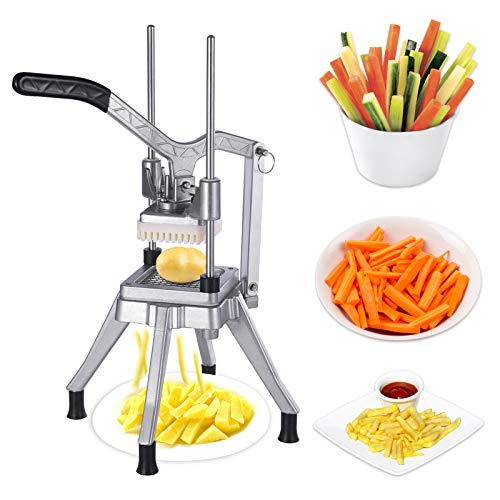 Commercial Vegetable Fruit Chopper Heavy Duty Stainless Steel Professional Food Dicer Kattex French Fry Cutter For Onion Peppers Potato Tomato Mushroom 38
