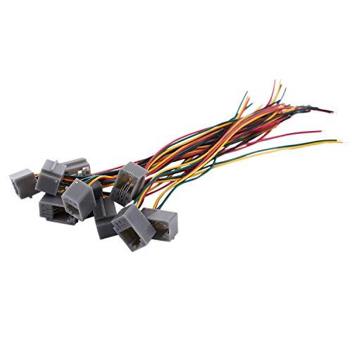 Liseng 10 pzs 616E 4P4C RJ9 Hembra Adaptador de Conector de telefono con 4 almbres 8cm