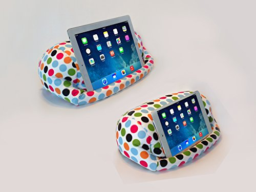 Lap PRO - Mini, Universal Beanbag Lap Stand for iPad Mini, iPad Air, Galaxy, Xoom, Nexus & All Android Tablets, E-Readers, Books & Magazines - Bed, Couch, Travel - Adjustable Angle; 0-89 deg.