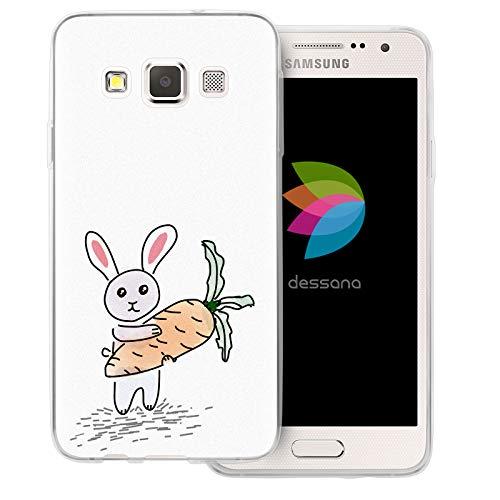 dessana - Custodia protettiva trasparente per Samsung Galaxy A3 (2014-2015), motivo: coniglietto di coniglio