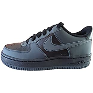 Nike Boys' Air Force 1 (GS) Basketball Shoes, Black (Black/Anthracite-Anthracite), 5 UK:Kisaran