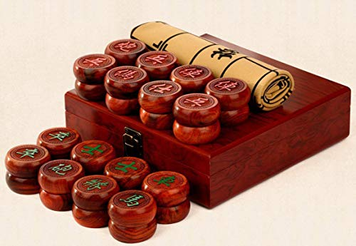 Chinese Chess Set Xiangqi Table Games Safflower Pear Wood Chessman Best Gift