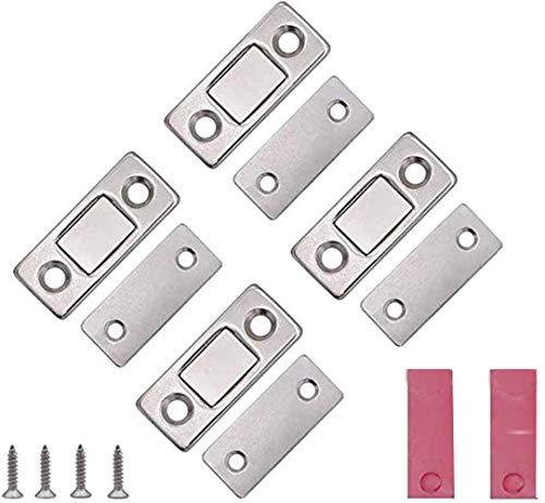 VOARGE Schrank Magnet, Magnetschnäpper Ultra Dünne Schranktür Catch Magnetverschluss Schranktür, für Verschluss Schnapper Türmagnet Türen Möbelmagnete für Küchenschrank Magnetschloss
