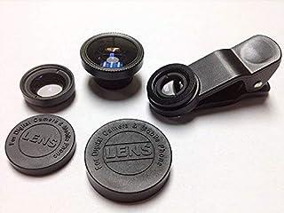 عدسة كاميرا 3 - 1 (وايلد انجل و فش اي و ماكرو) لهواتف ايفون و اتش تي سي وسامسونج وتابلت - اسود