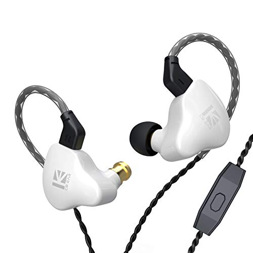 Auriculares estéreo KBEAR KS1 con cable, monitores intrauditivos, doble circuito magnético dinámico, graves intensos, sonido de cristal, alta resolución, cancelación de ruido, cable desmontable