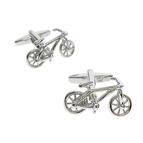 CASCUFF Cufflinks for Men Bicycle Bike Cycle Cufflinks with a Gift Box