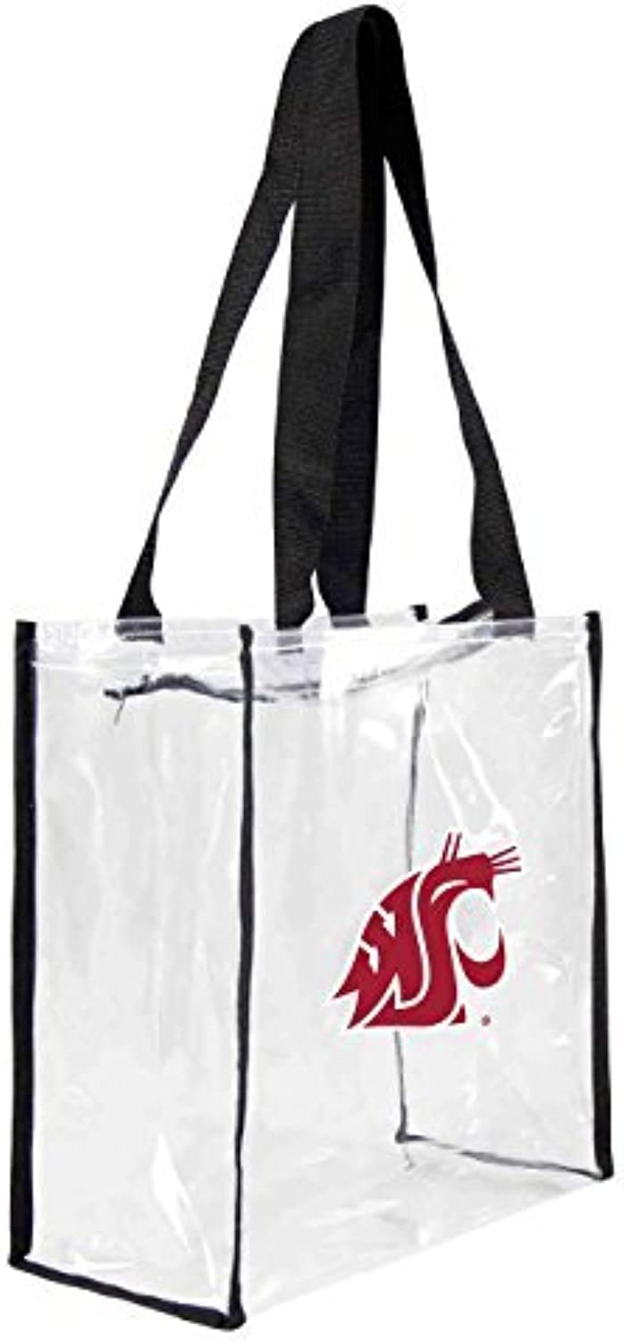 85737b257640 NCAA Washington State Cougars Square Tote, 11.5 x 5.5 x Clear by ...