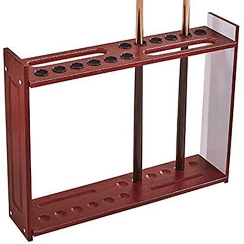Taoke Pool Cue-Rack, 12-Cue Bodenständer Holz Cue-Rack Billiard Cue Holzständer Sticks Halter Pool Cue 8bayfa (Color : Wine red)