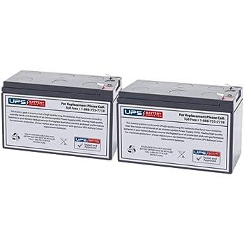 UPSBatteryCenter 12V 9Ah F2 Compatible Replacement Battery Set for Tripp Lite SmartOnline 120V 1kVA 800W SU1000RTXL2UA