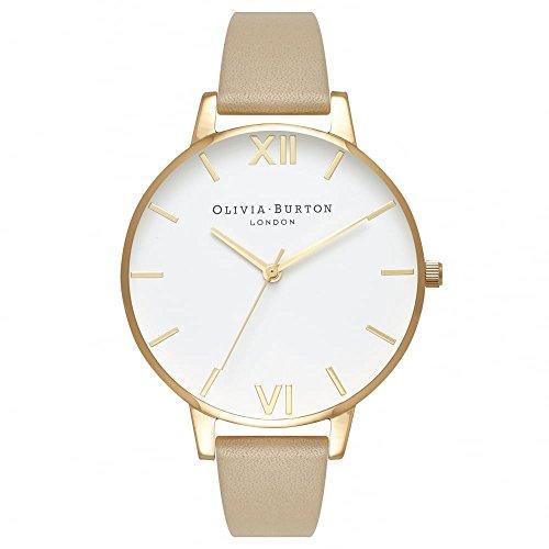 Olivia Burton Reloj Analógico para Mujer de Cuarzo con Correa en Cuero OB16BDW35