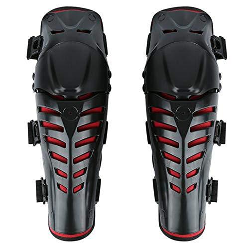 XYBB Rodilleras Protector Kneepad Engranajes Al Aire Libre Deportes Scooter Moto Racing Guardias Protector De Seguridad Kneepad 41 x 14 x 11cm Rojo