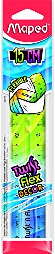 Maped - flexibles Lineal TWIST´n FLEX DECOR, 15 cm - Das Original! Mit neuem Farb-Verlauf - verschiedene Farb-Verläufe