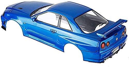 GzxLaY Brandneu 48716 Nissan Skyline R34 Fertige RC-Karosseriegehäuse Geeignet für 1:10 Touring RC-Autoteile Ferngesteuertes Autozubehör Ersatzteilzubehör