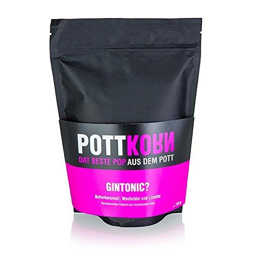 Pottkorn - GinTonic, Popcorn mit Butterkaramell, Wacholder & Limette, 150g