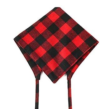 Chuajunn Lot de 2 bandana pour chien - Lavable - Coton classique - Triangle - Écharpe réglable - Avec collier pour animal de compagnie - Pour chiens de petite taille moyenne et grande taille